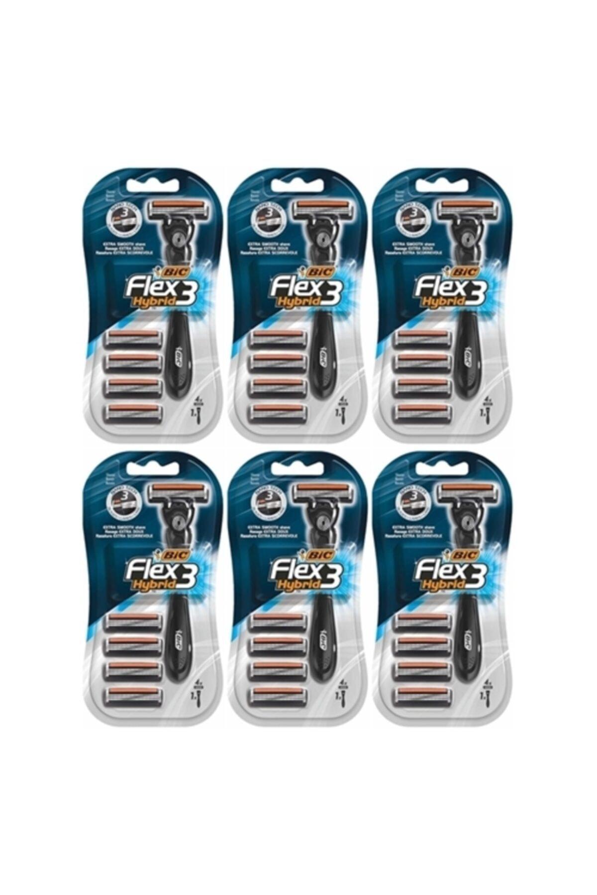 Bic Flex3 Hybrid Tıraş Bıçağı 4 Yedek 1 Sap X 6 Adet 2