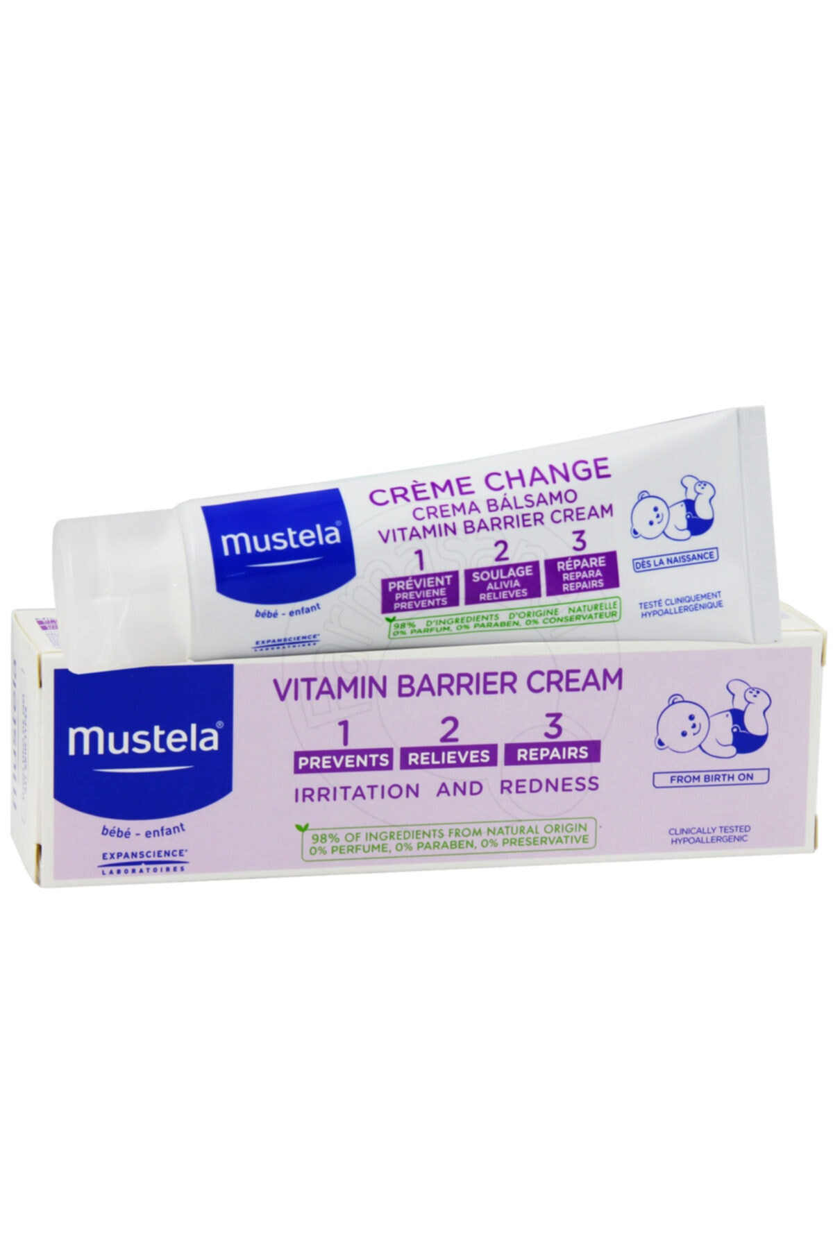Mustela Vitamin Barrier 1-2-3 Pişik Kremi 50 Ml 1