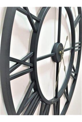 Ultima Regal Dekoratif Mat Siyah Ferforje 76 Cm. Iskelet Duvar Saati Büyük Boy