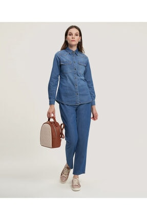 Aker Kadın Jean Gömlek 2779