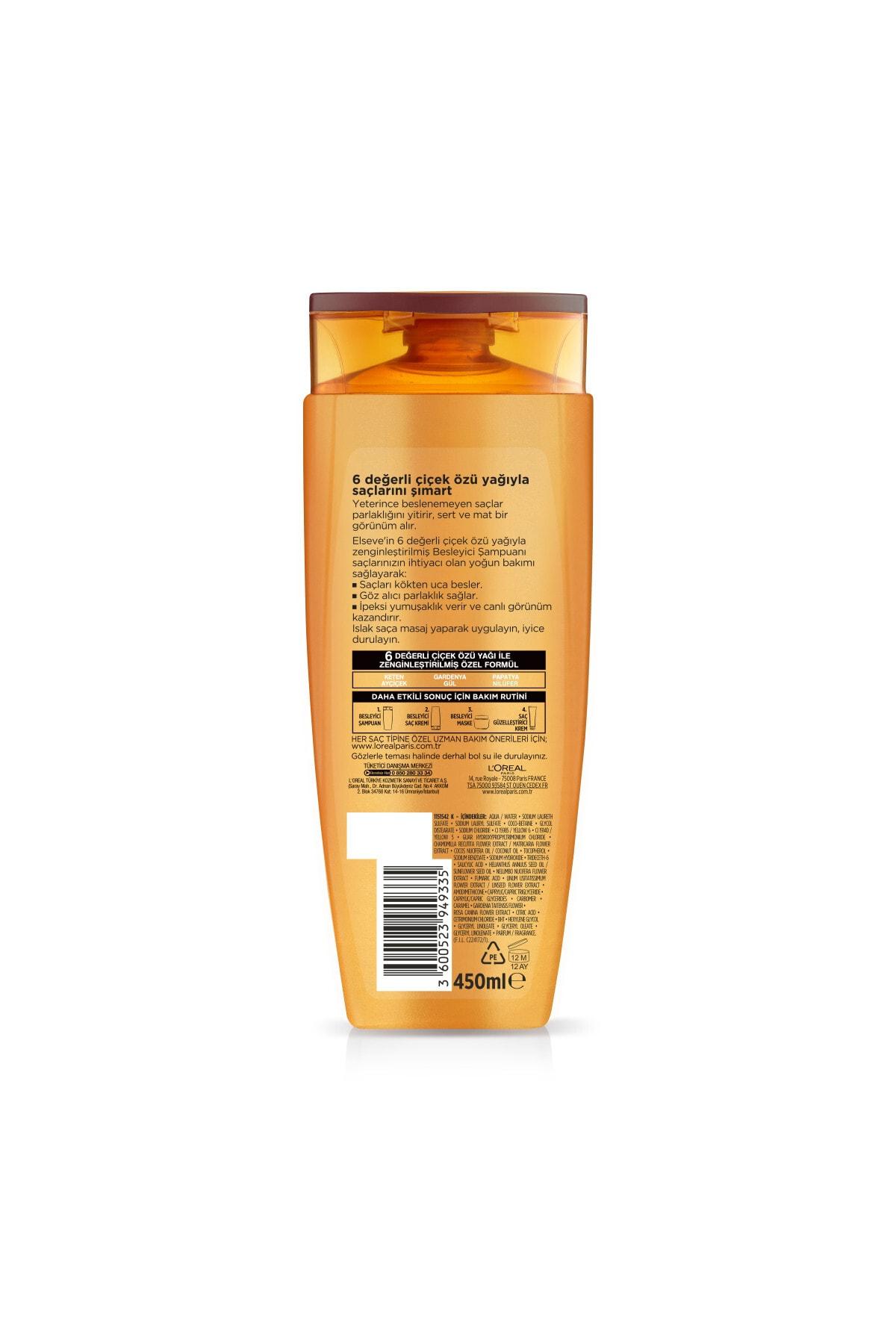 ELSEVE L'oréal Paris 6 Mucizevi Yağ Besleyici Bakım Şampuanı 450 ml 2