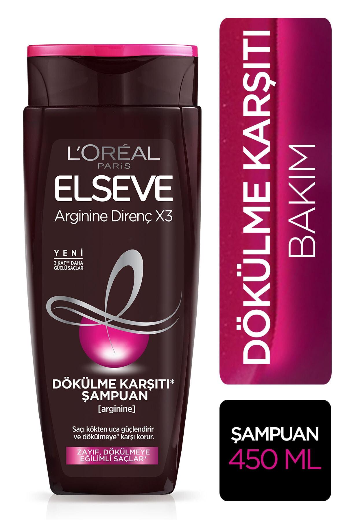 ELSEVE Arginine Direnç X3 Dökülme Karşıtı Şampuan 450 ml 1