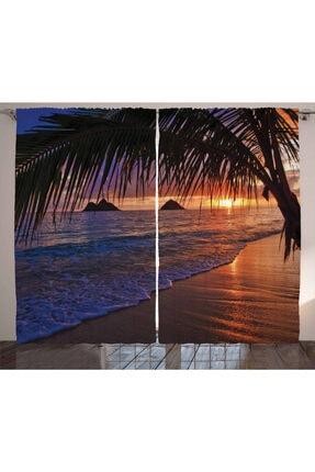 Orange Venue Gökyüzü Perde Gün Batımı Deniz Temalı