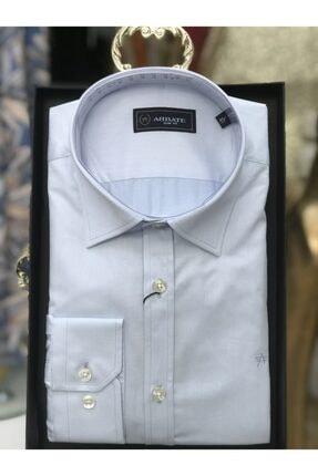 Abbate Erkek Gömlek Slim Fit Uzun Kollu Cepsiz