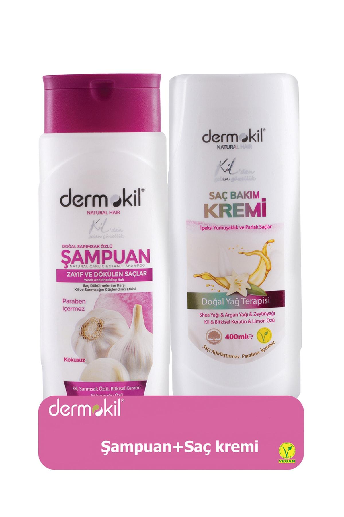Dermokil Sarımsak Özlü Şampuan 400 ml ve Saç Kremi 400 ml 8697916004004