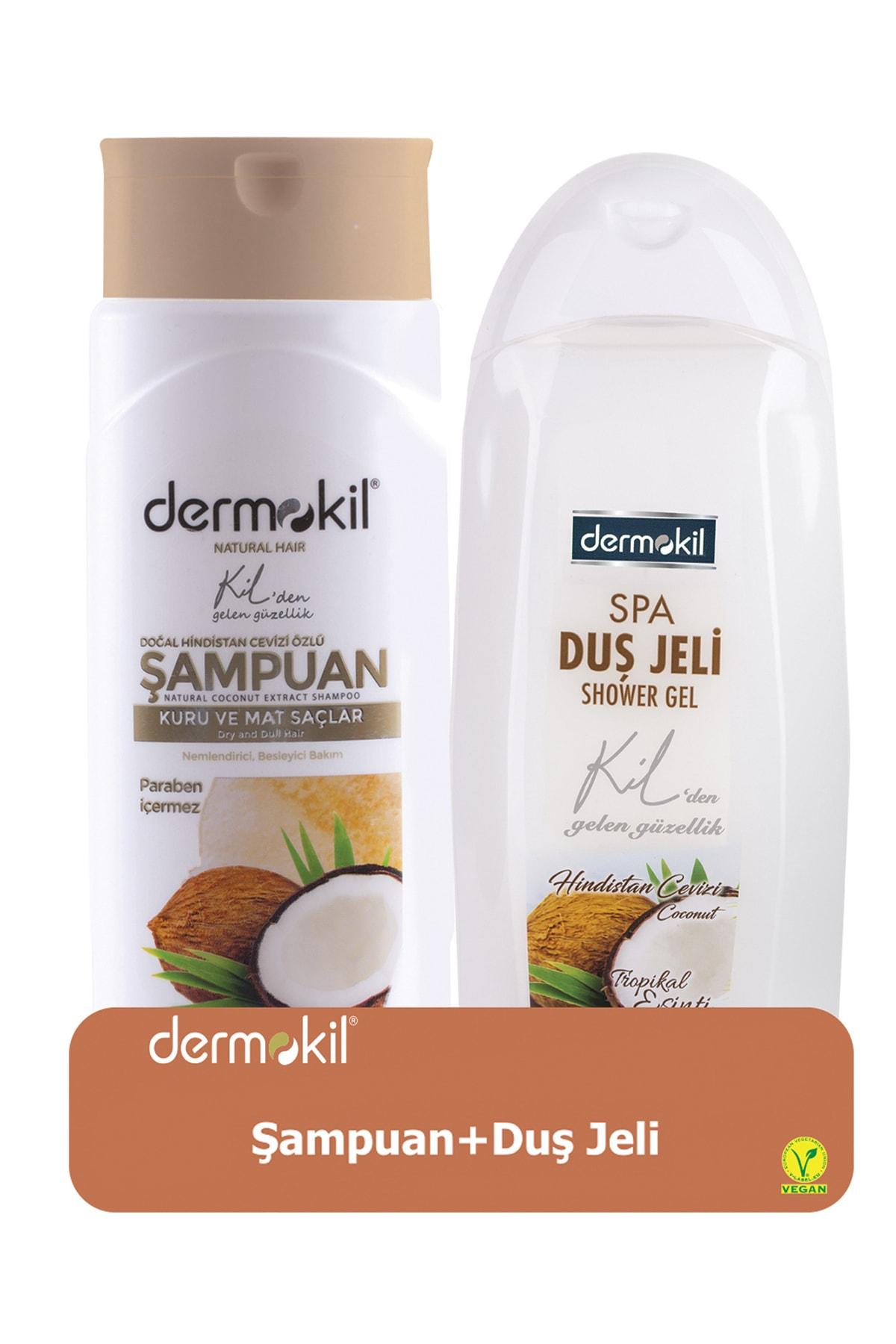 Dermokil Hindistan Cevizli Şampuan 400 ml ve Hindistan Cevizli Duş Jeli 500 ml 8697916004301