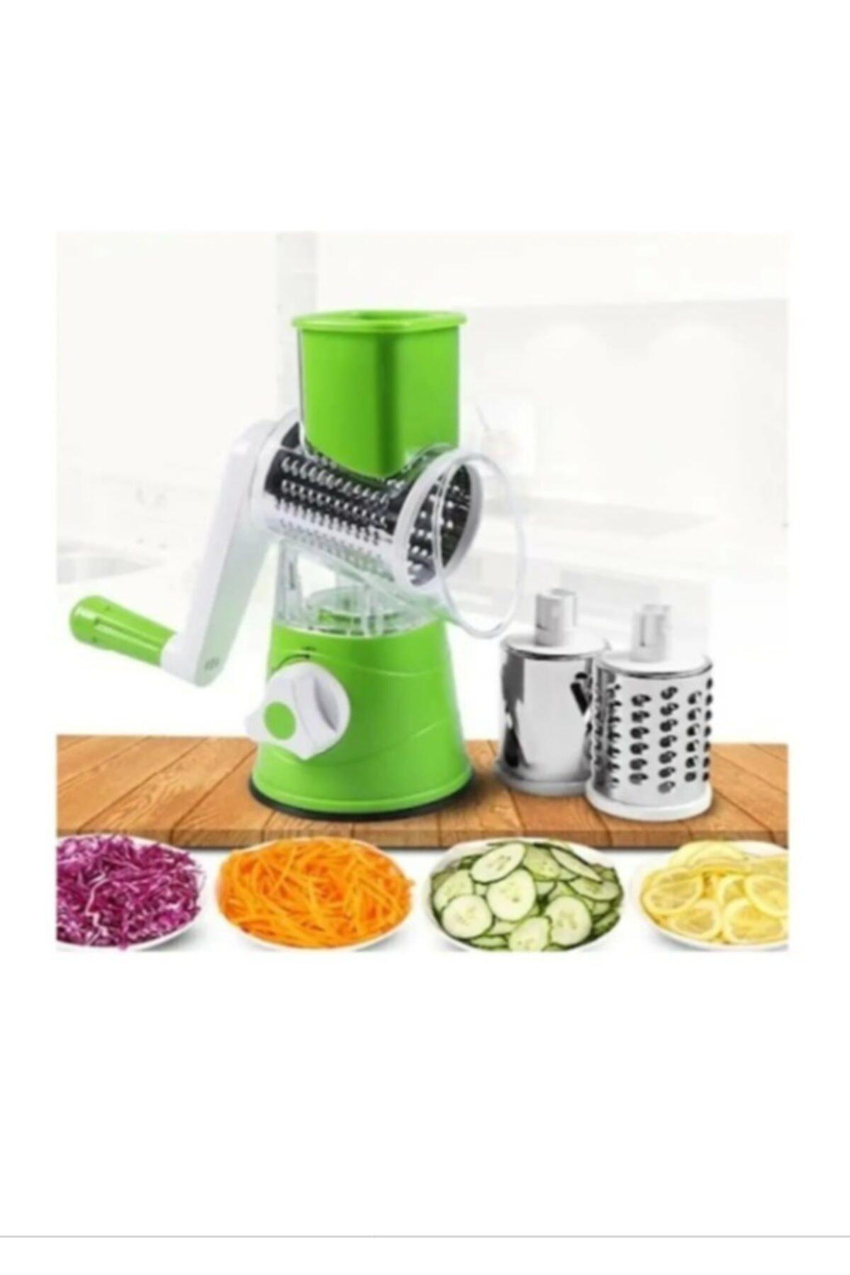 AYAZ TAKI Çevirme Kollu Sebze Doğrayıcı Rende Vegetable Slicer Sebze Dilimleyici 1