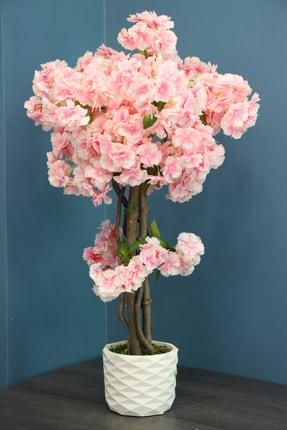 Yapay Çiçek Deposu Yapay Küçük Bahar Dalı Ağacı 80 Cm Pembe