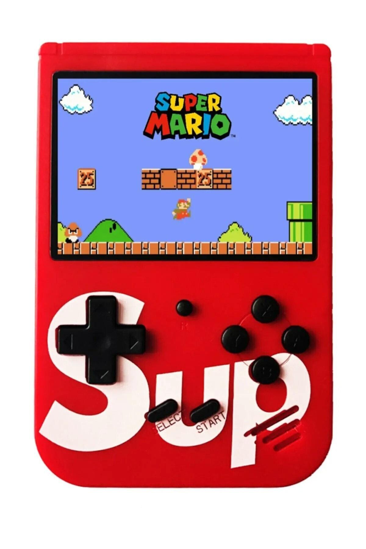 SUP 400 Nostalji Oyunlu Mini Atari Gameboy Ve Gamebox Oyun Konsolu Kırmızı 1