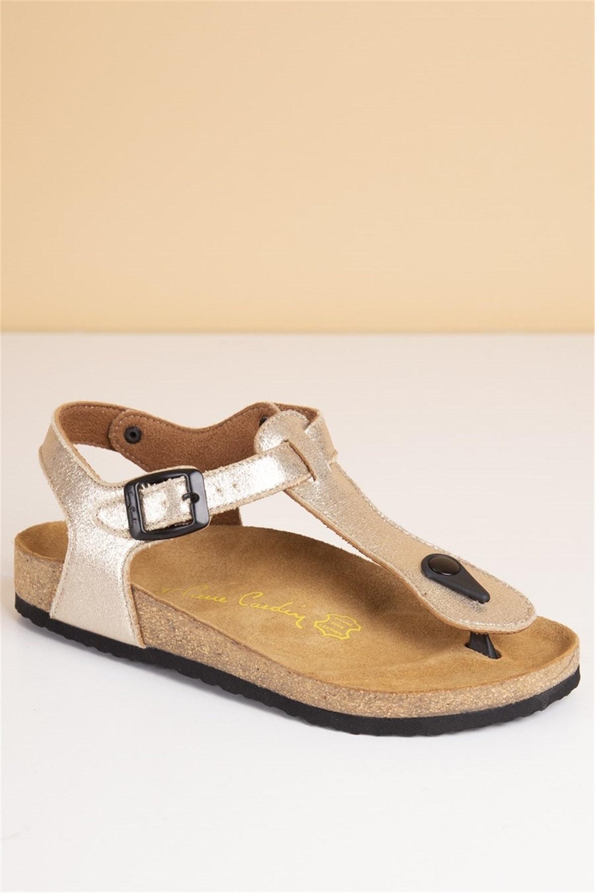 Pierre Cardin Pc-5056 Altın Kadın Sandalet 1