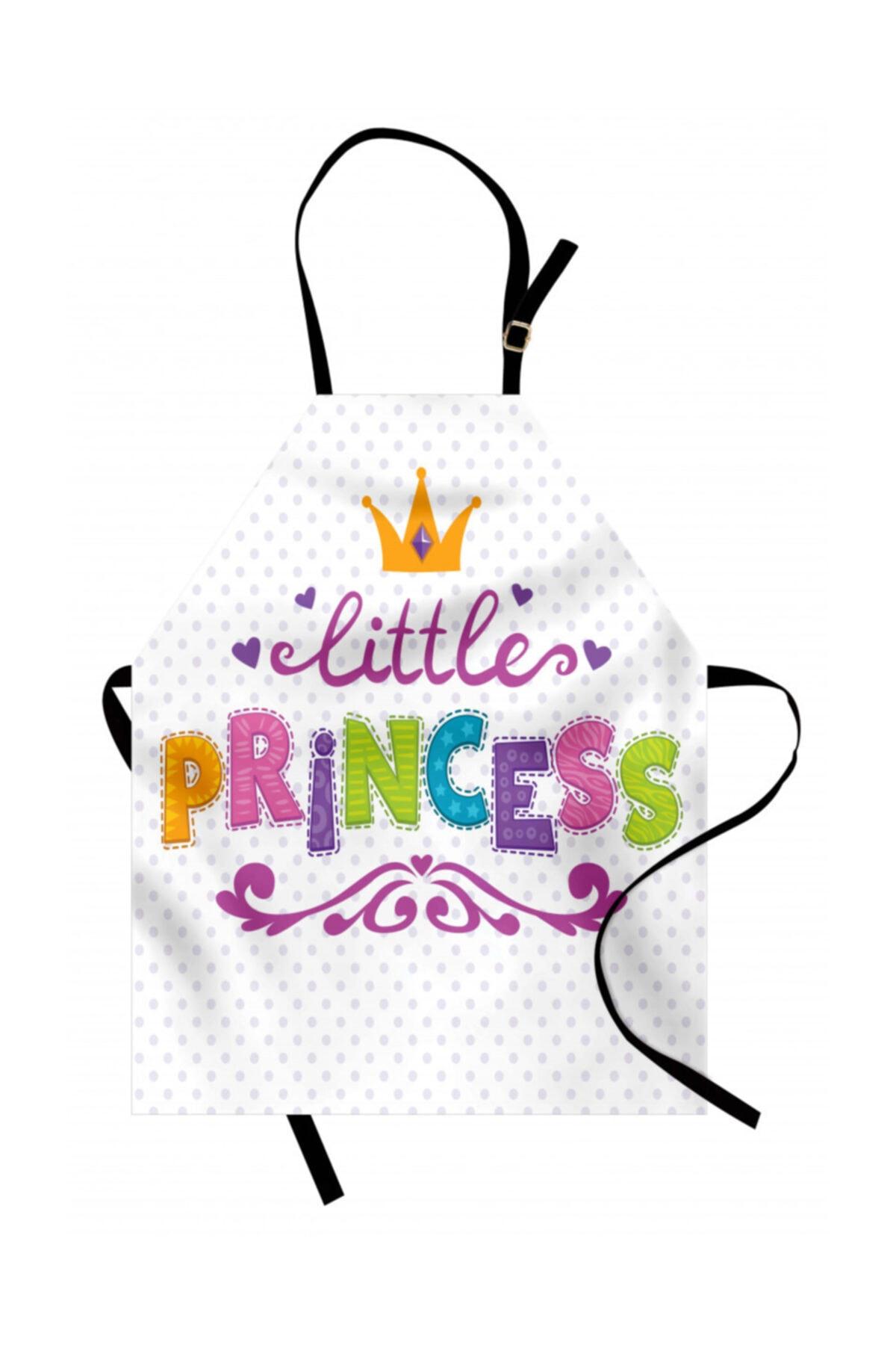 Orange Venue Çocuklar Için Mutfak Önlüğü Küçük Prenses 1