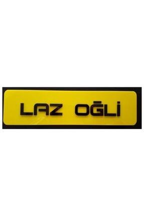 BoostZone Laz Oğli Dekor Sarı Plaka