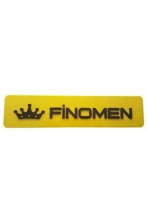 BoostZone Finomen Dekor Sarı Plaka