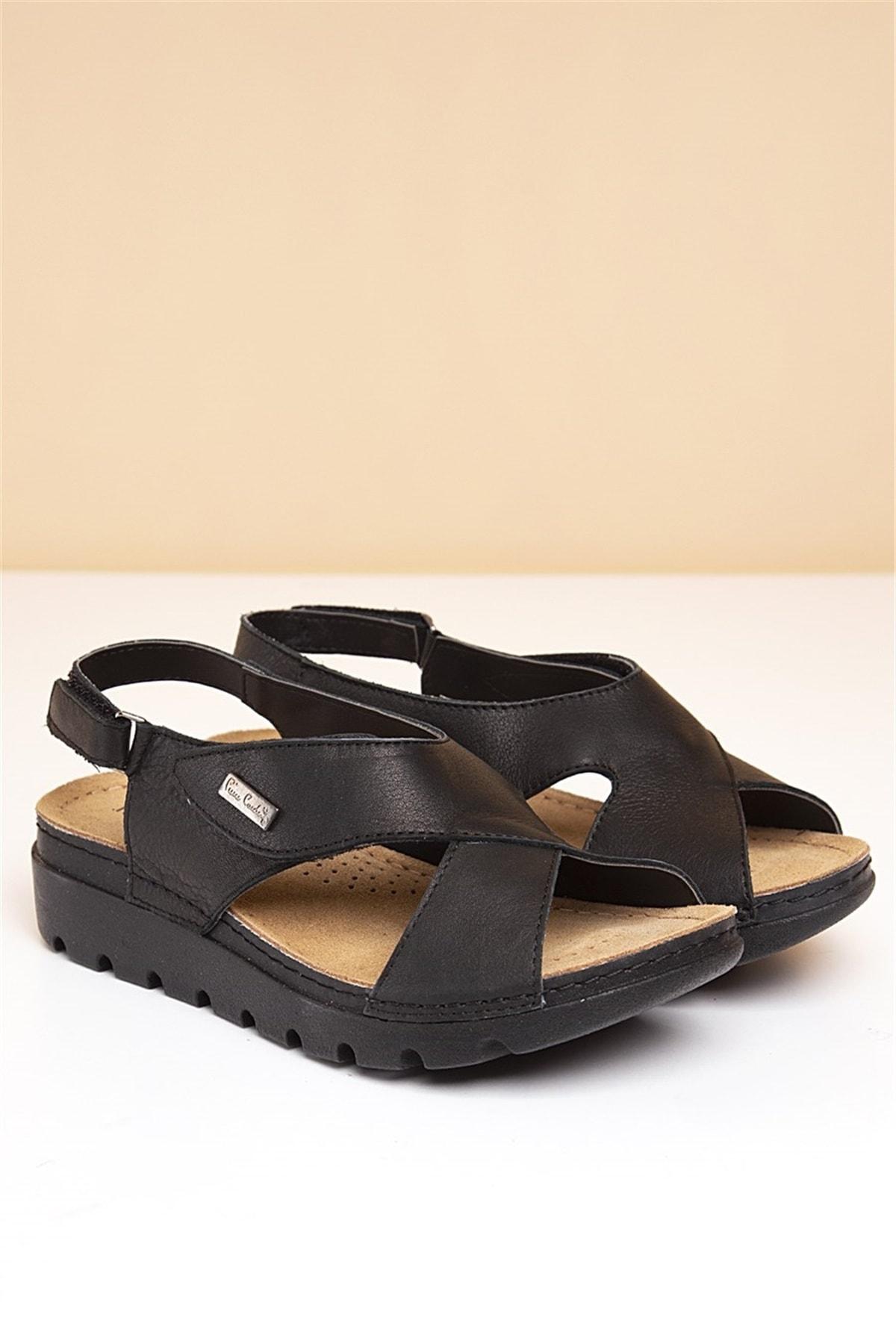 Pierre Cardin PC-1378 Siyah Kadın Sandalet 1