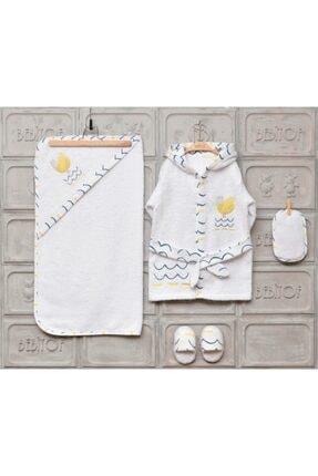 Bebitof Kız Erkek Bebek Bornoz Seti 0-3 Yaş