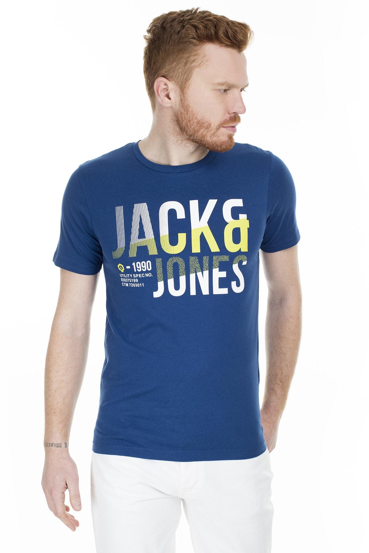 Jack & Jones Tişört Foke Crew Neck 12172215-NVY 1