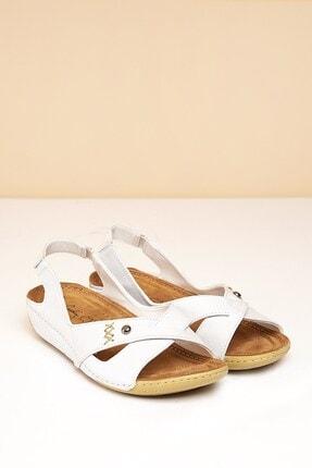 Pierre Cardin PC-1188 Beyaz Kadın Sandalet
