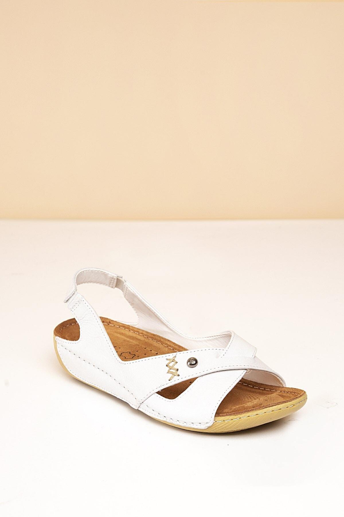 Pierre Cardin PC-1188 Beyaz Kadın Sandalet 2