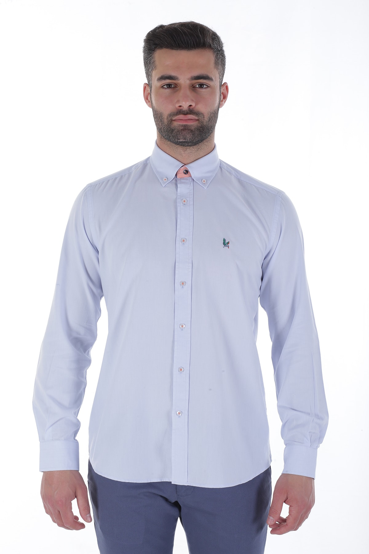Diandor Uzun Kollu Erkek Gömlek Gri/Grey 1912007 1