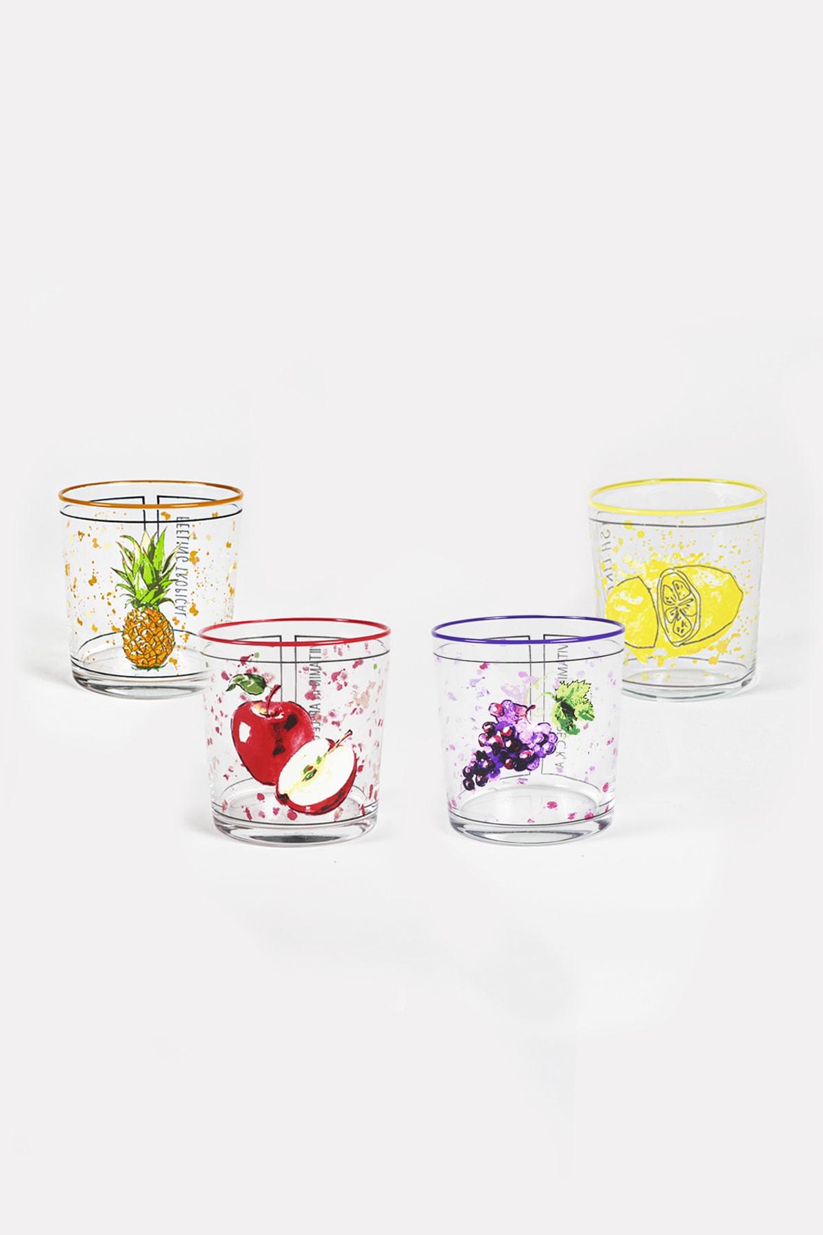 Rakle Fresh 4'lü Su Bardağı Seti 380 Cc 1