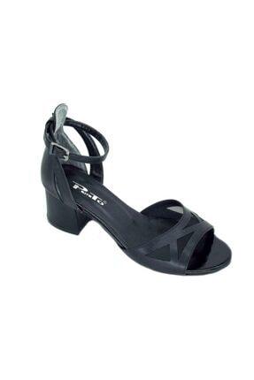 PUNTO Kadın Siyah Kalın Topuk Ayakkabı