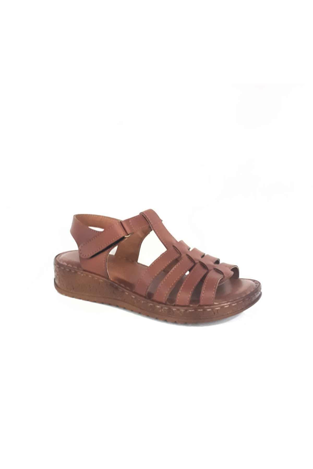 Merry Pace Kadın Kahverengi Dolgu Topuk Sandalet 1