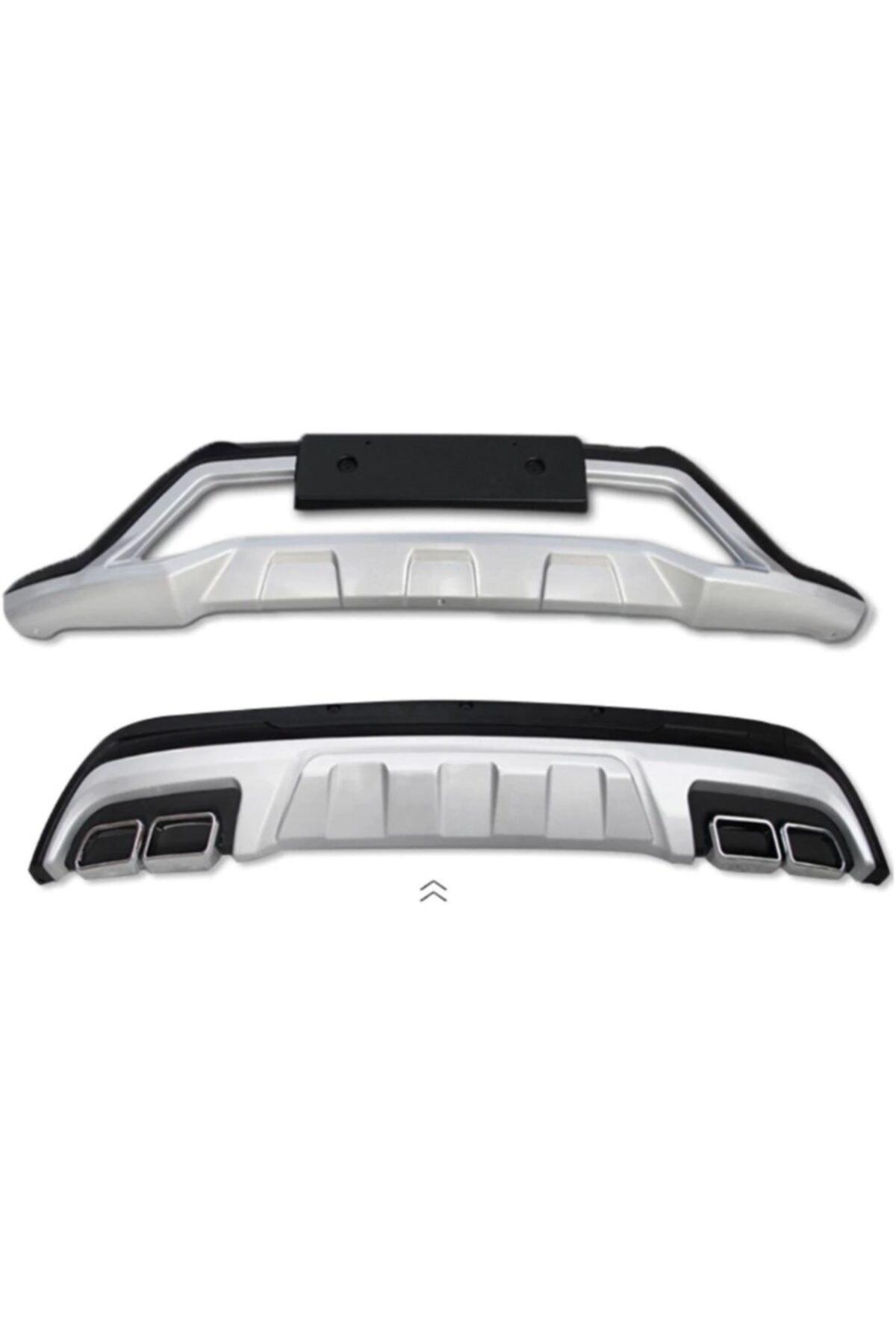 OEM Hyundai Tucson Ön Arka Tampon Koruması Difüzör Turbolu Modeller İçin 2015 / 2017 1