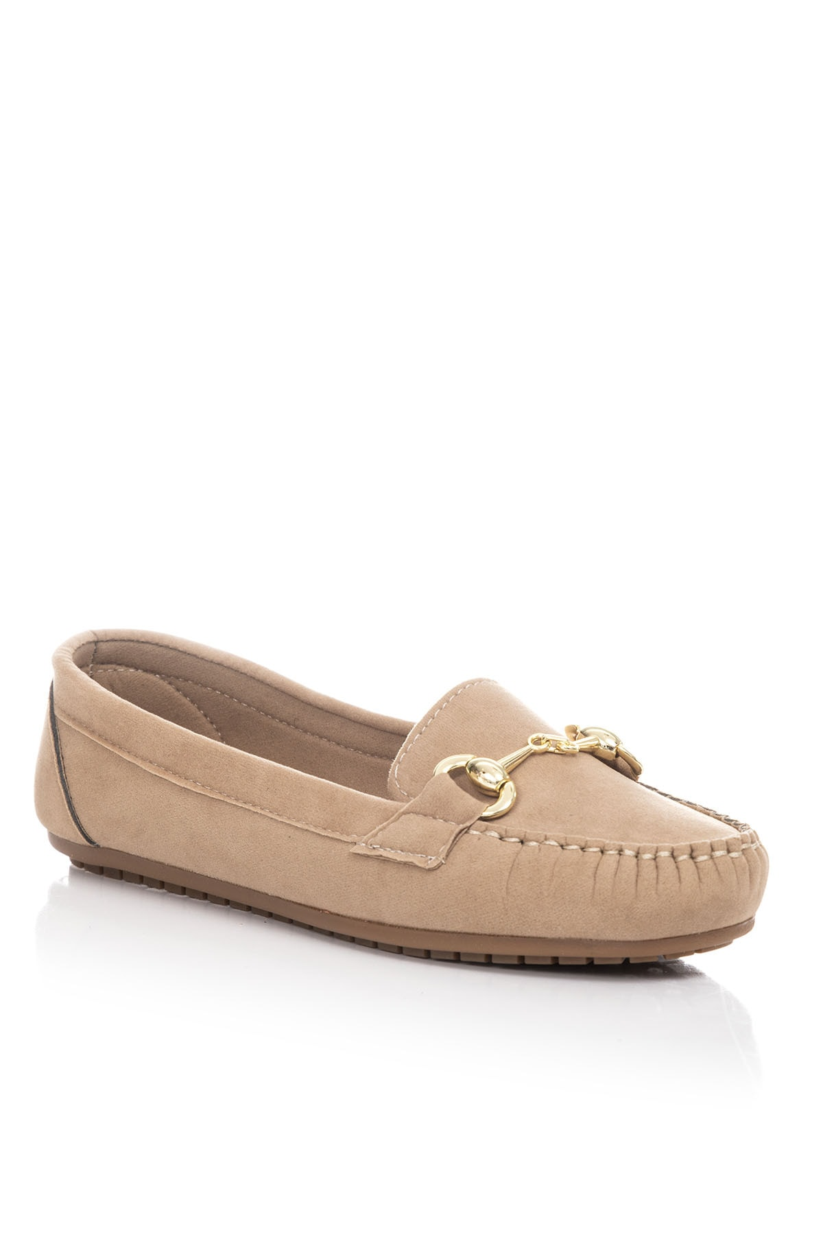 Tonny Black Sarı Süet Kadın Loafer Ayakkabı TB1200-1 2