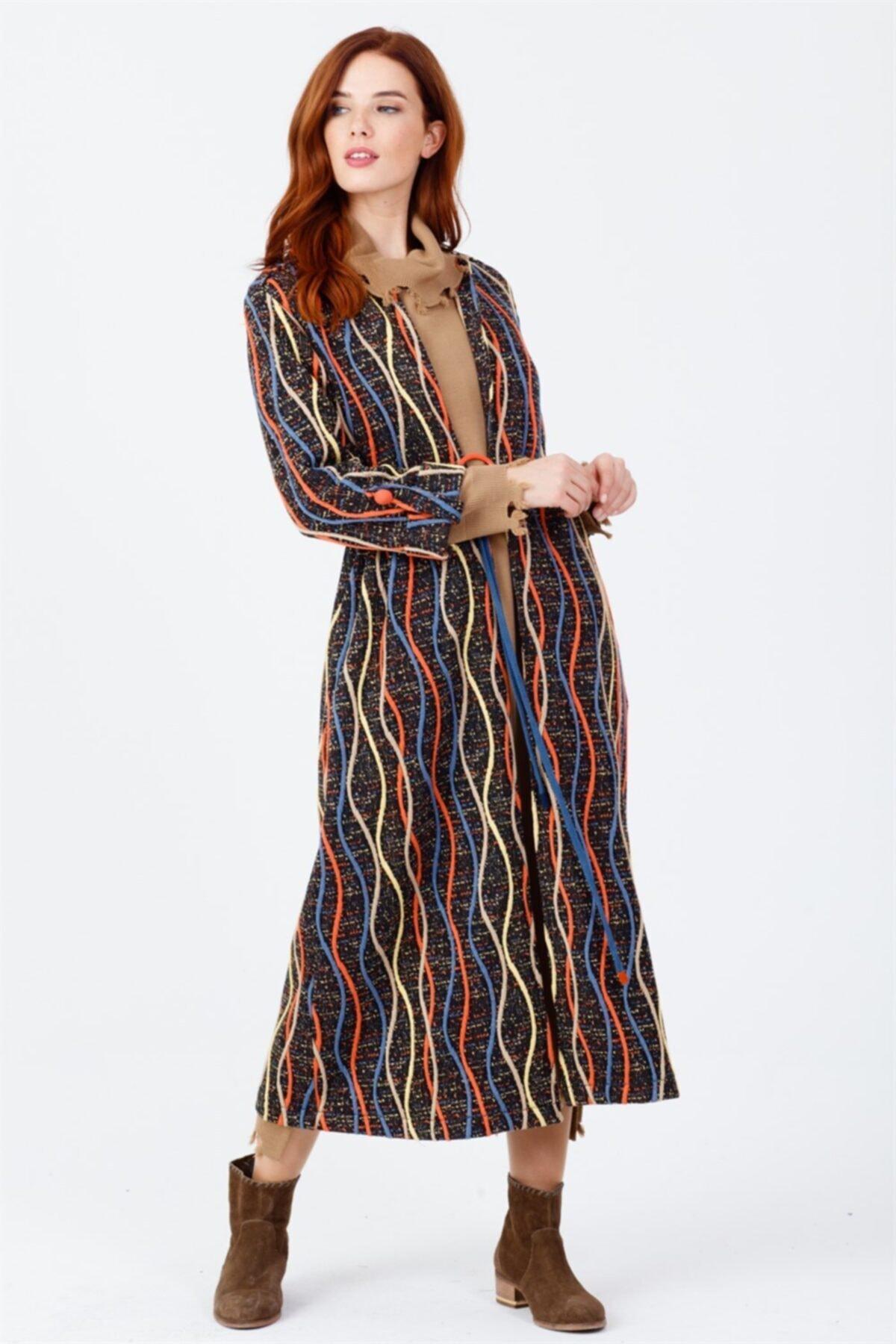 Ghisa Kadın Renkli Desenli Ceket Orıgınal 1