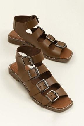 Elle Shoes Hakiki Deri Rahel Taba Kadın  Sandalet 20YEK3143754