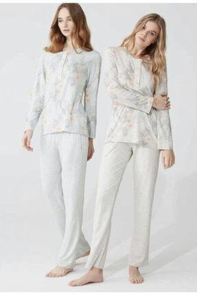 Feyza Pijama Feyza 3824 Uzun Kollu Bayan Pijama Takım