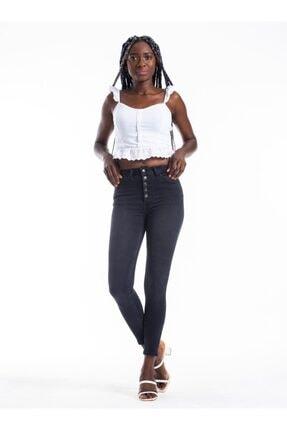 Tiffany Önü Düğmeli Skinny Jeans