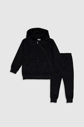LC Waikiki Erkek Çocuk Yeni Siyah Cvl Sweatshirt