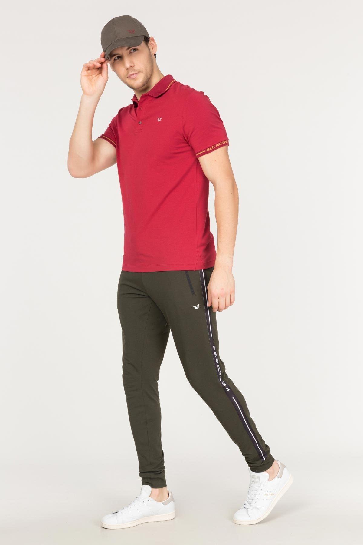 bilcee Bordo Polo Yaka Pamuklu Erkek T-Shirt FS-1759 1