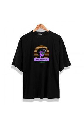 Shout Unisex Siyah Oversize 80's Coolness Vintage T-shirt
