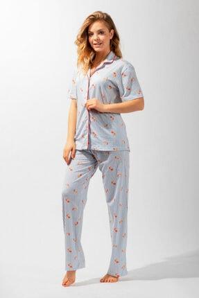 Katia&Bony Modern Marine Düğmeli Kadın Pijama Takım - Mıx