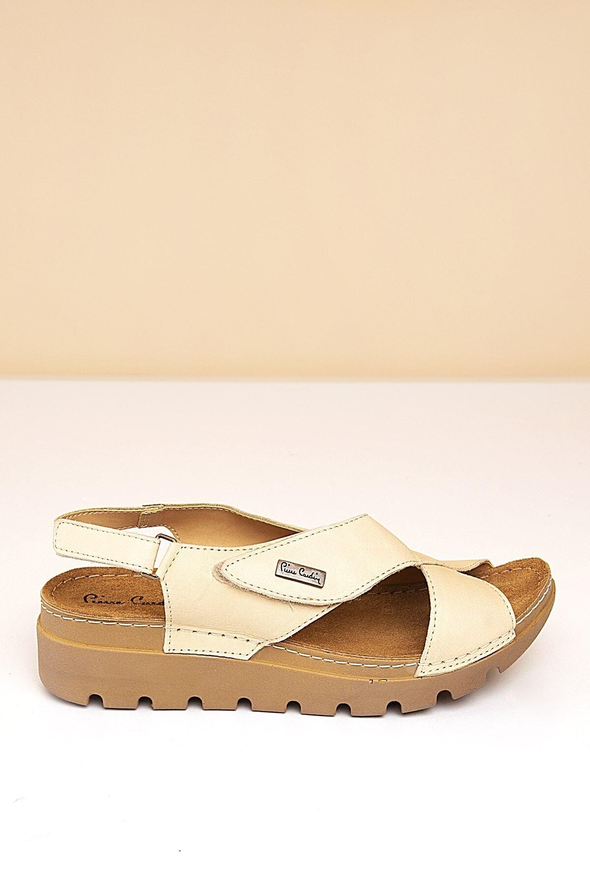 Pierre Cardin PC-1378 Bej Kadın Sandalet 2