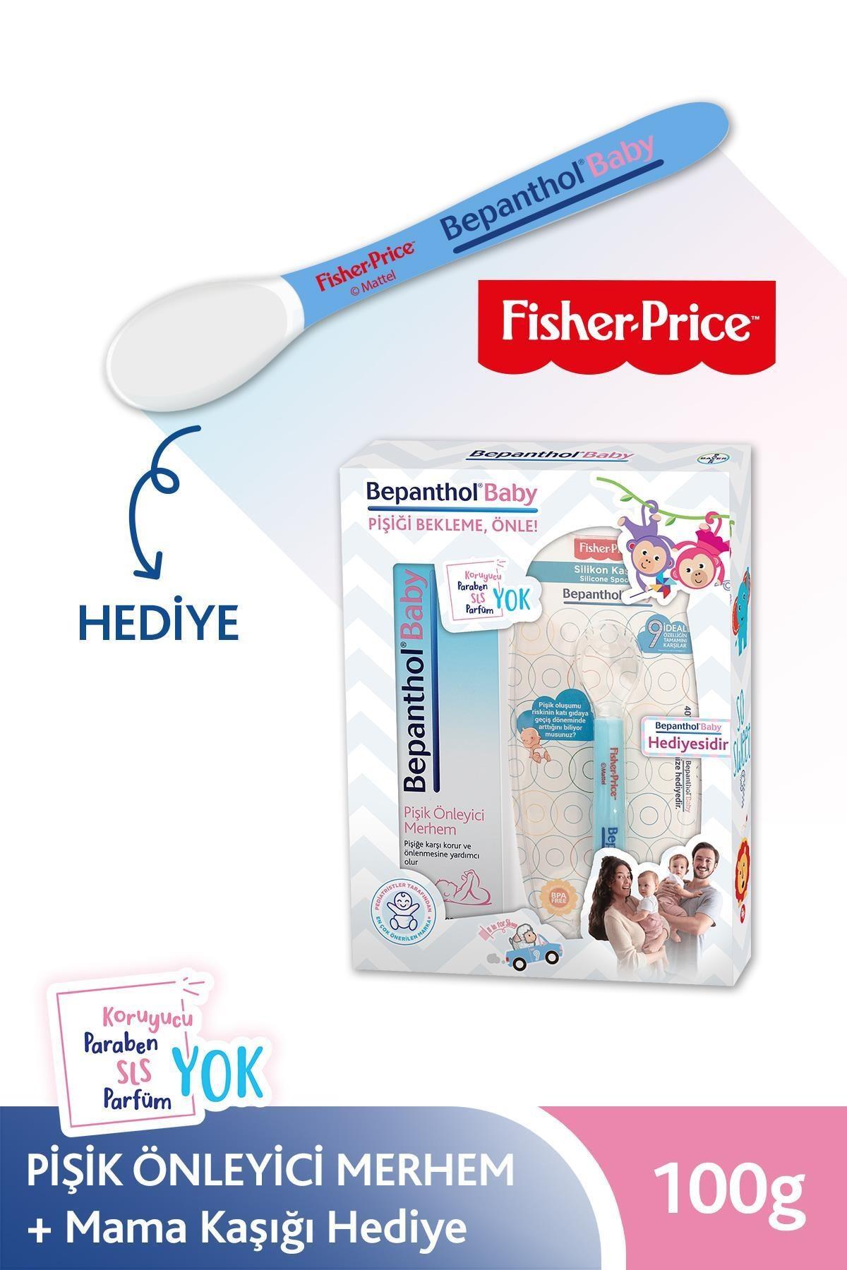 Bepanthol Baby Pişik Önleyici Merhem 100 g + Fisher Price Mavi Mama Kaşığı Hediye 8699546370511