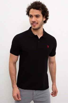 U.S. Polo Assn. Erkek Siyah Polo Yakalı T-shirt 954055