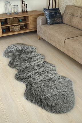 Kaizen Carpet Dekoratif Peluş Akrilik Post Halı 70x200 cm Gri