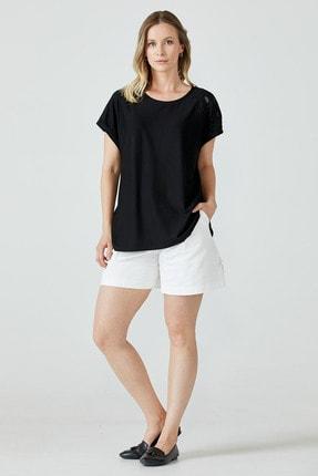 Sementa Nakış Işlemeli Kadın Bluz - Siyah