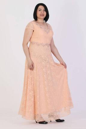 Günay Giyim Kadın Somon Abiye Elbise 11273200002139