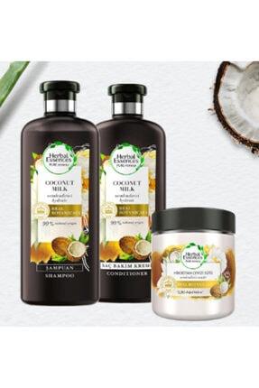 Herbal Essences Hindistan Cevizi Sütü Nemlendirici Şampuan+saç Kremi+ Maske Kzmprt