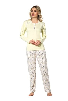 walkie Lisa Sarı Pijama Takımı
