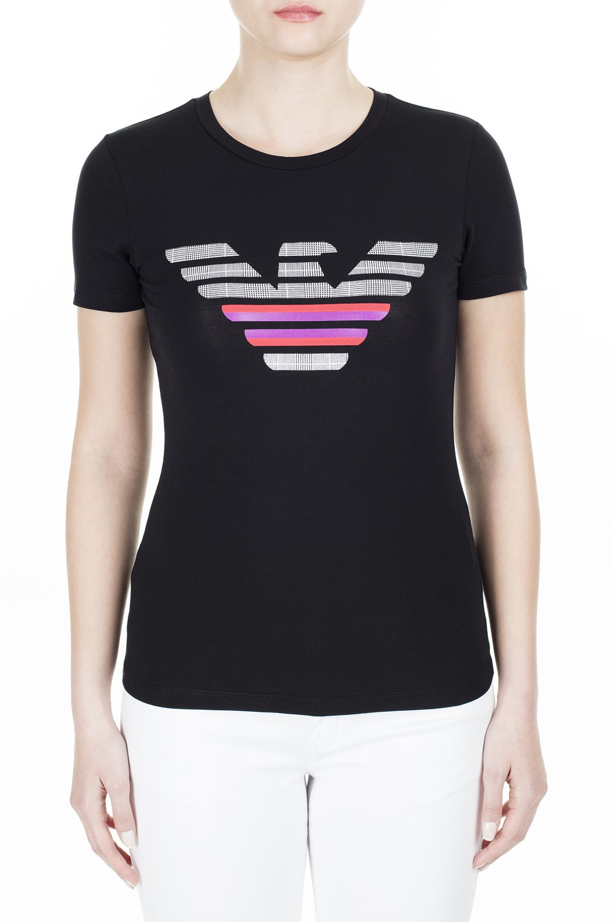 Emporio Armani Kadın Siyah T-Shirt 3H2T8A 2J07Z 0999