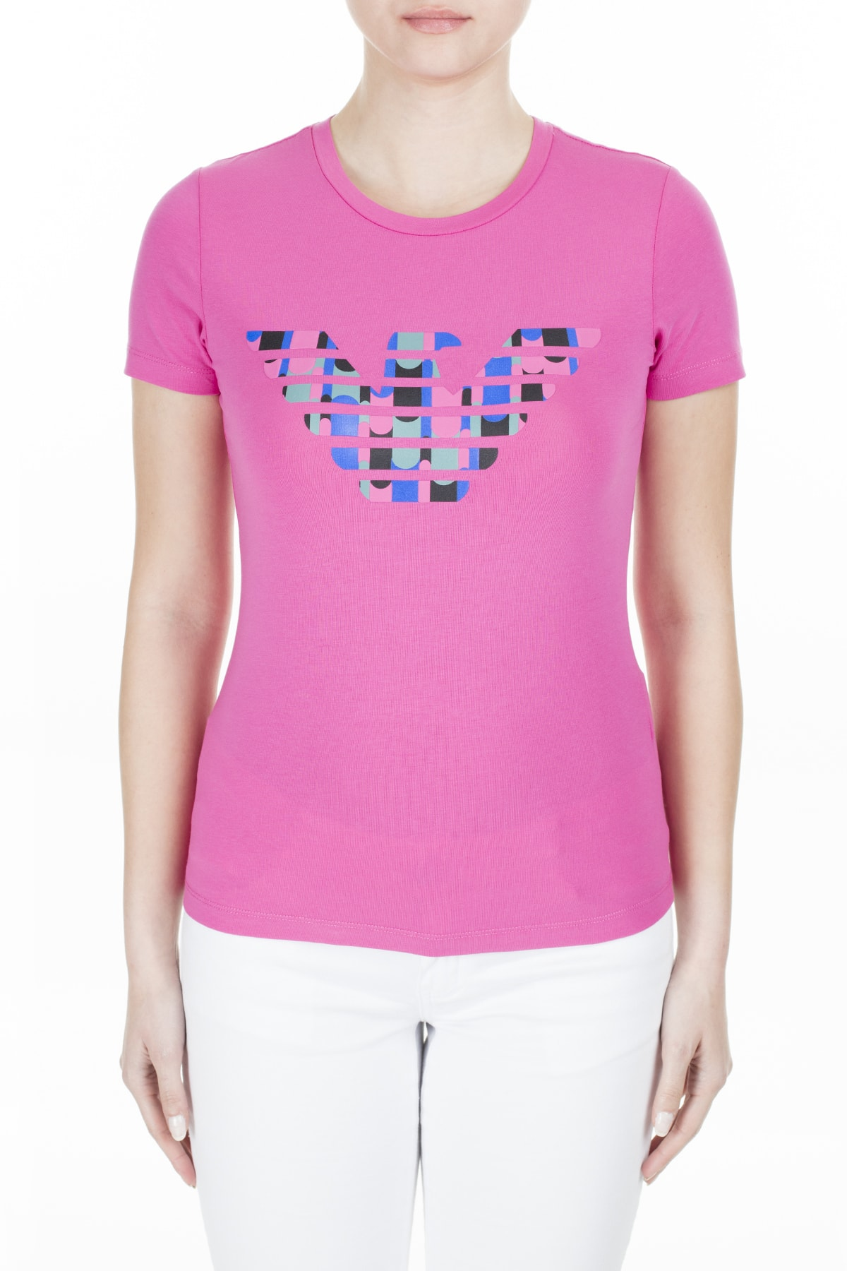 Emporio Armani Kadın Fuşya T-Shirt 3H2T8A 2J07Z 0309