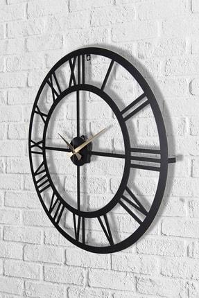Muyika Design Muyika Roma Rakamlı Metal Siyah Duvar Saati 50x50 cm