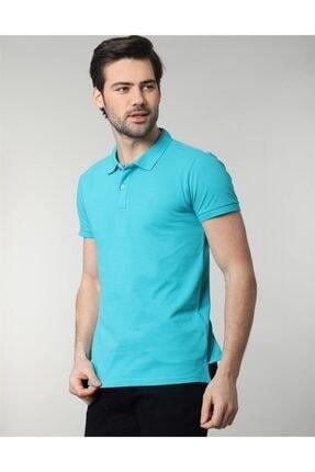 Tudors Erkek Turkuaz Polo Yaka Spor T-shirt