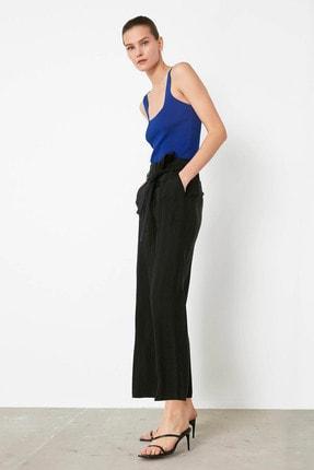 İpekyol Kadın Siyah Kuşaklı Yüksek Bel Pantolon IS1200003183001