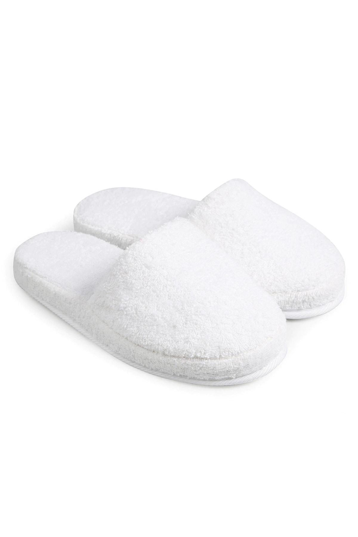 Bihızlı Unisex Beyaz Yüksek Tabanlı Banyo Terliği 1